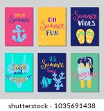 summer lettering card. hand... | Shutterstock .eps vector #1035691438