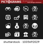business vector white icons for ... | Shutterstock .eps vector #1035692029