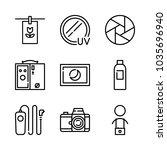 icons camera with developer... | Shutterstock .eps vector #1035696940