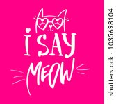i say meow.  pussy cat...   Shutterstock .eps vector #1035698104