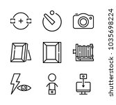 icons camera with camera timer  ... | Shutterstock .eps vector #1035698224