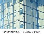 glass walls of a office... | Shutterstock . vector #1035701434