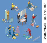 home repair isometric icons set ... | Shutterstock .eps vector #1035703480