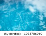 the smooth natural blue water... | Shutterstock . vector #1035706060