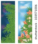 two tropical banners  vector...   Shutterstock .eps vector #103571006