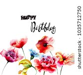 decorative summer flowers with...   Shutterstock . vector #1035712750
