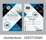modern geometric style business ... | Shutterstock .eps vector #1035715060