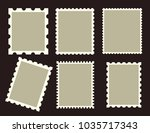 six different blank postage... | Shutterstock .eps vector #1035717343