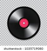 black vinyl record on... | Shutterstock .eps vector #1035719080