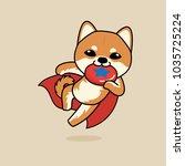 cute cartoon character design... | Shutterstock .eps vector #1035725224