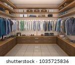 design of a modern men's... | Shutterstock . vector #1035725836