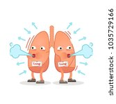 breathing lungs character... | Shutterstock .eps vector #1035729166