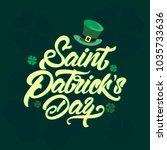 saint patrick's day logotype.... | Shutterstock .eps vector #1035733636