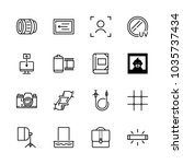 icons camera with filter ... | Shutterstock .eps vector #1035737434