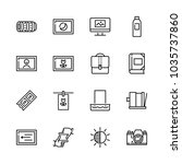 icons camera with astro photo ... | Shutterstock .eps vector #1035737860