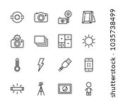 icons camera with day light ... | Shutterstock .eps vector #1035738499