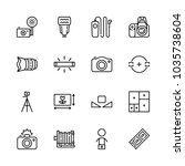 icons camera with cameraman ... | Shutterstock .eps vector #1035738604