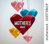 happy mothers day. vector... | Shutterstock .eps vector #1035738619