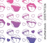 sensuality lips with tongue out ... | Shutterstock .eps vector #1035747226