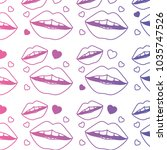 sensuality lips and hearts... | Shutterstock .eps vector #1035747526
