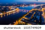 panorama of russia. night st.... | Shutterstock . vector #1035749839