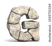 stone font letter g 3d render... | Shutterstock . vector #1035752104