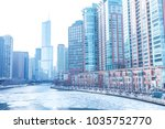 chicago downtown residential... | Shutterstock . vector #1035752770