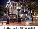 Stock photo steam clock gastown vancouver british columbia canada 1035757828