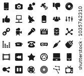 flat vector icon set  ... | Shutterstock .eps vector #1035762310