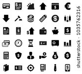 flat vector icon set   graph... | Shutterstock .eps vector #1035762316