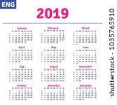 english calendar 2019 ... | Shutterstock .eps vector #1035765910
