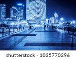 night view of empty brick... | Shutterstock . vector #1035770296
