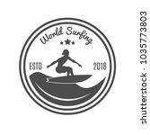 vintage emblem. for surfer club | Shutterstock .eps vector #1035773803