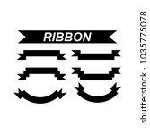ribbon set icon vector | Shutterstock .eps vector #1035775078
