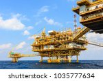 offshore oil and gas central... | Shutterstock . vector #1035777634