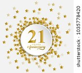 happy 21 years anniversary in... | Shutterstock .eps vector #1035778420