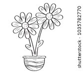 drawing of a flower. retro style | Shutterstock .eps vector #1035782770