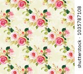 seamless floral pattern with... | Shutterstock .eps vector #1035787108