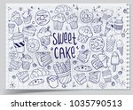 set of drawings on the theme... | Shutterstock .eps vector #1035790513