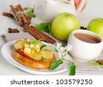apple cakes with  tea cup | Shutterstock . vector #103579250