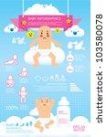 baby infographic vector | Shutterstock .eps vector #103580078