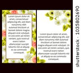 romantic invitation. wedding ... | Shutterstock . vector #1035802690