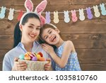 happy holiday  mother and her... | Shutterstock . vector #1035810760