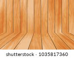 wood floor painting | Shutterstock .eps vector #1035817360