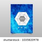template for brochures  flyers  ... | Shutterstock .eps vector #1035820978