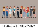 women different profession... | Shutterstock .eps vector #1035822079