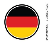 round germany flag vector icon... | Shutterstock .eps vector #1035827128