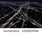 aerial view of a massive... | Shutterstock . vector #1035829006