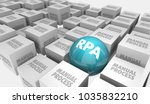 rpa robotic process automation... | Shutterstock . vector #1035832210