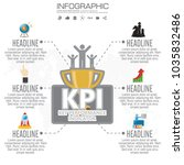 infographic kpi concept with... | Shutterstock .eps vector #1035832486